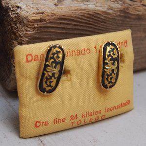 Damasquinado Toledo Oro 24K Gold Inlay Cuff Links